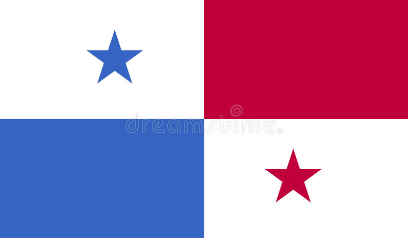 Panama flaga wizerunek royalty ilustracja