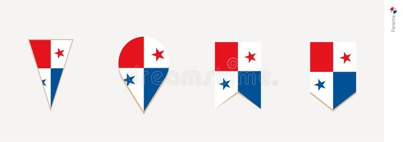 Panama flagga i den vertikala designen, vektorillustration vektor illustrationer