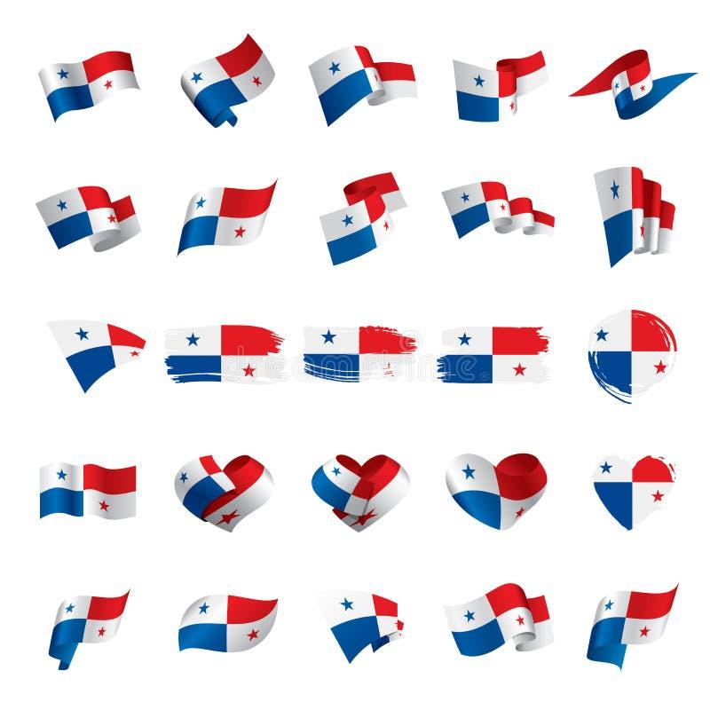 Panama flagga, vektorillustration royaltyfri illustrationer