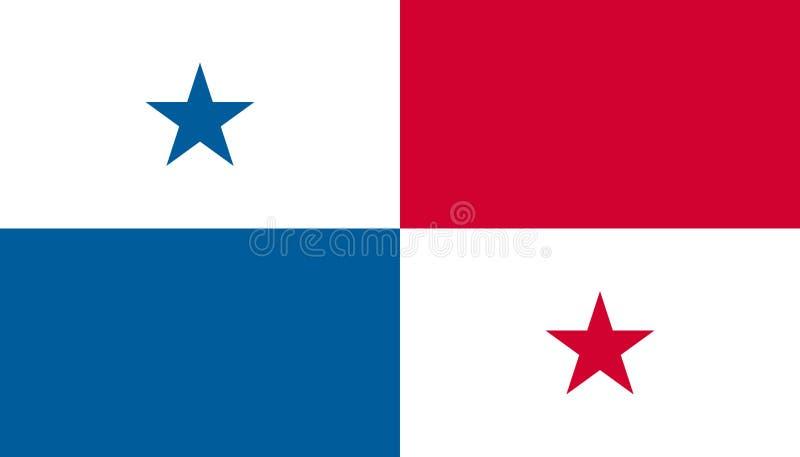 Panama flaggasymbol i plan stil Nationell teckenvektorillustration Klok aff?rsid? vektor illustrationer