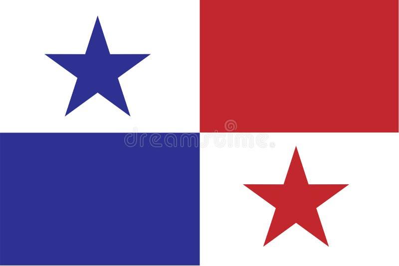 Panama flaggavektor stock illustrationer