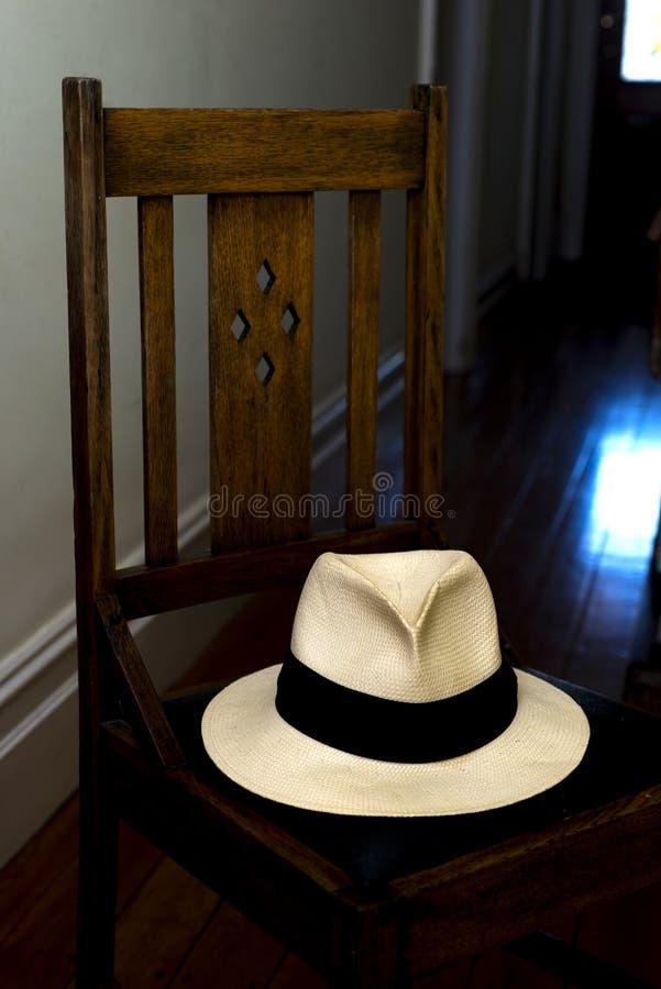 Panama Hat Chair royalty free stock image