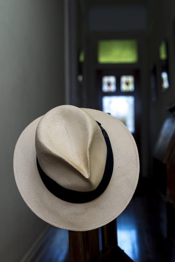 Panama Hat Front door stock photo