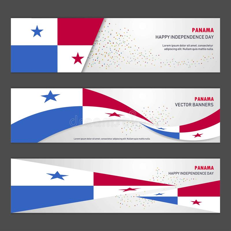 Panama independence day abstract background design banner and fl. Yer, postcard, landscape, celebration vector illustration - This Vector EPS 10 illustration is stock illustration