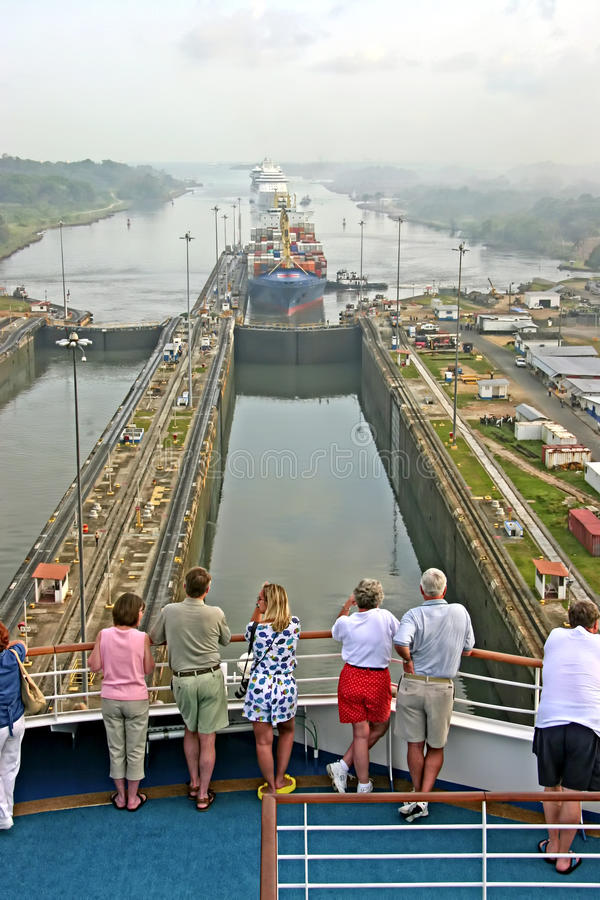 Panama kanal arkivfoton