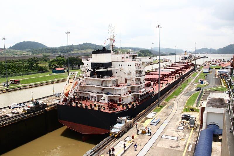 Panama kanal royaltyfria foton