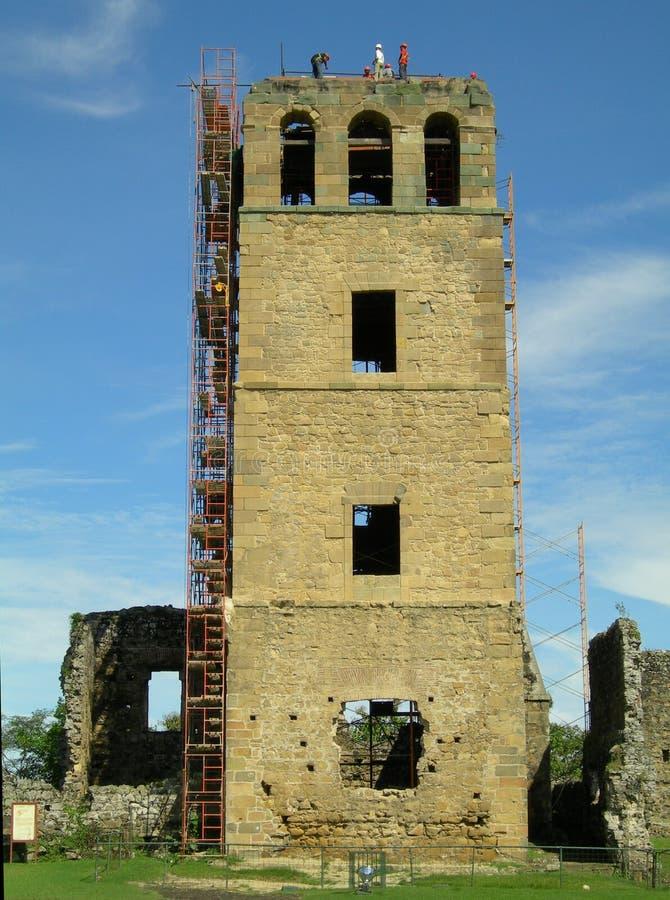 Panama katedralna odbudowy zdjęcie stock