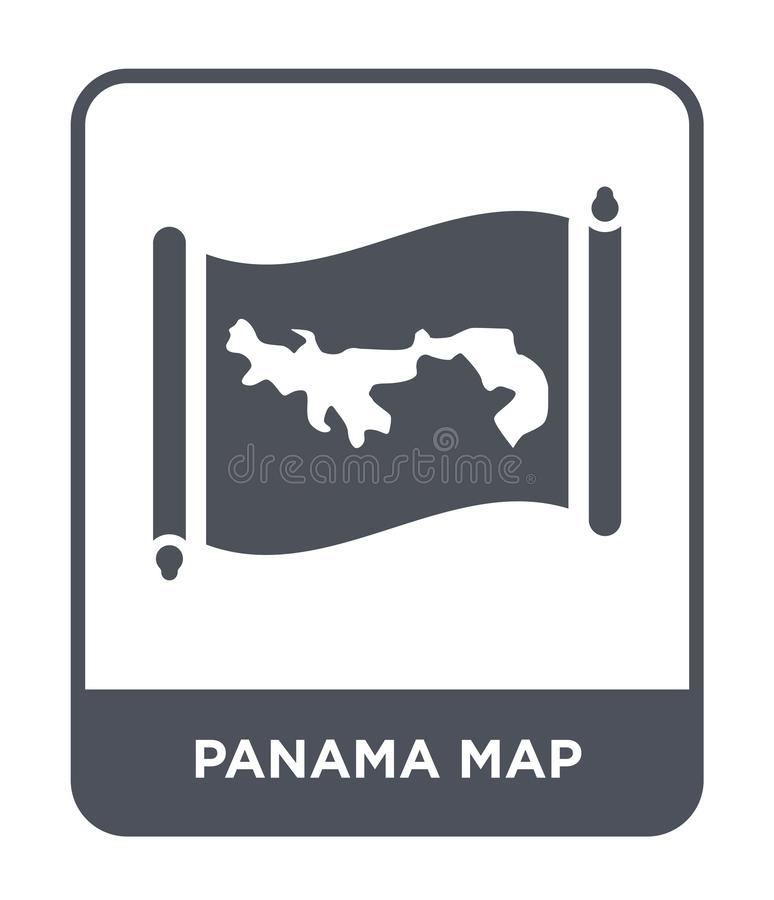 Panama map icon in trendy design style. panama map icon isolated on white background. panama map vector icon simple and modern. Flat symbol for web site, mobile stock illustration