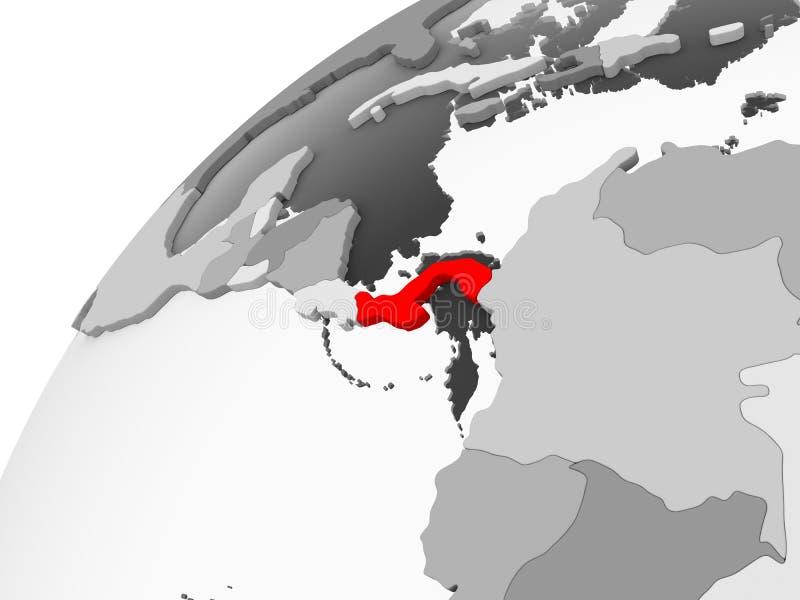 Panama na popielatej politycznej kuli ziemskiej ilustracja wektor