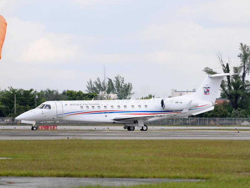 Panama's presidential airplane royalty free stock photo