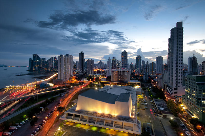Panama-Stadt stockbild