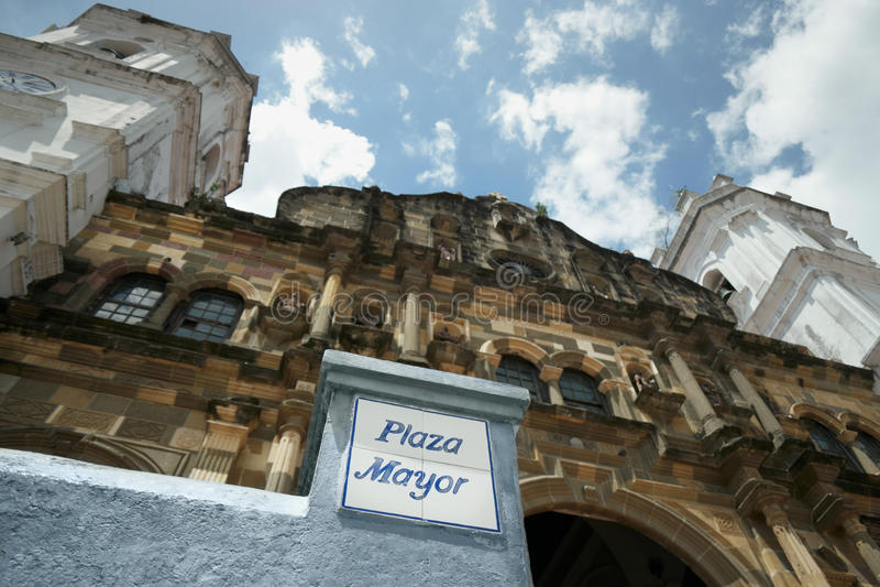 Panama-Stadt Kathedrale in Piazza Bürgermeister Casco Antiguo lizenzfreies stockbild