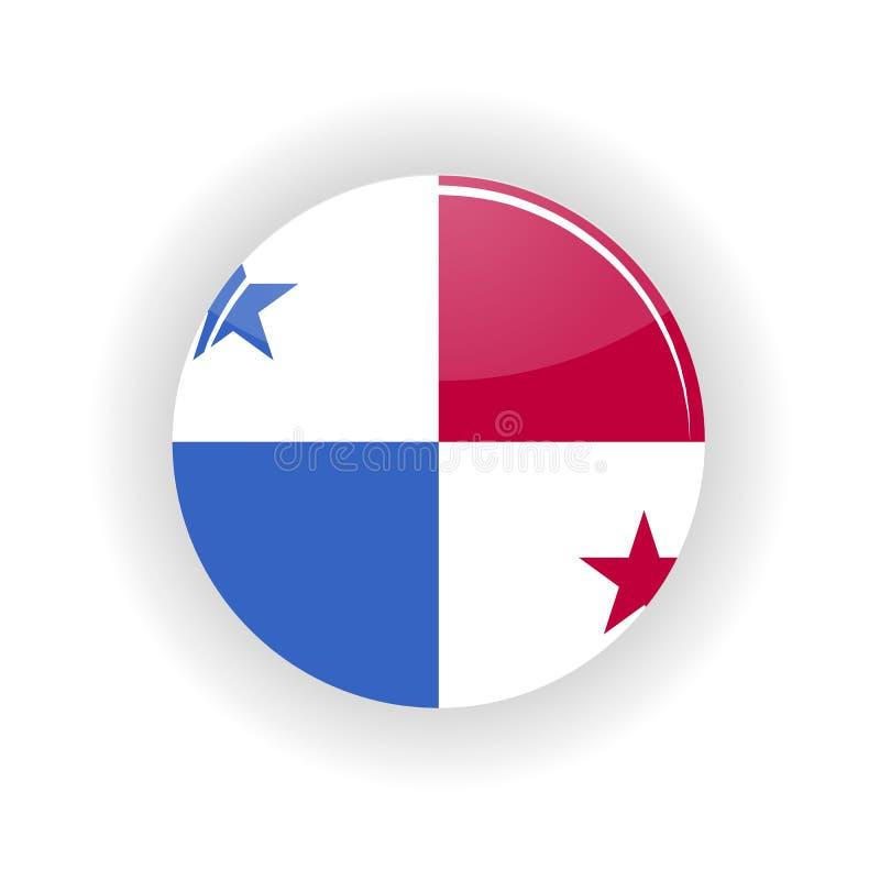 Panama symbolscirkel vektor illustrationer