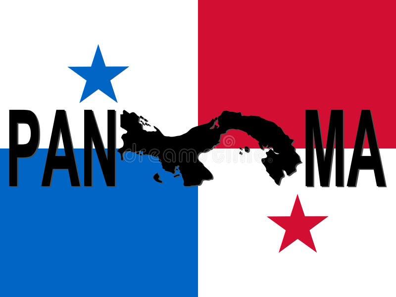Panama Text With Map Stock Vector Illustration Of Panama - Panama map vector