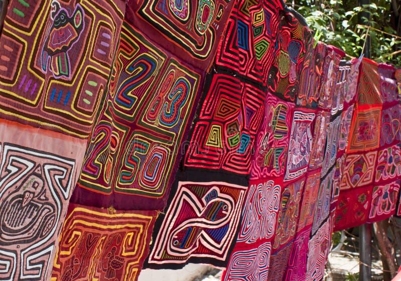 panama textilar arkivfoton
