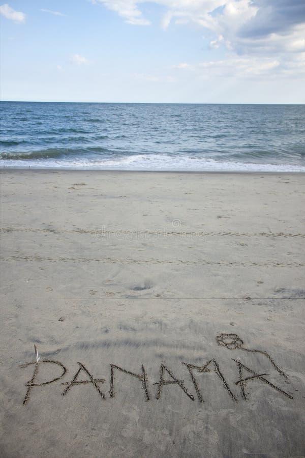 Download Panama Written in Sand stock photo. Image of atlantic - 23193574
