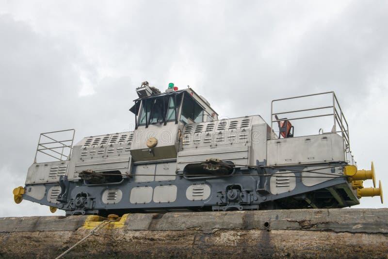 Panamakanal-Zug-Maultier, Reise lizenzfreies stockfoto