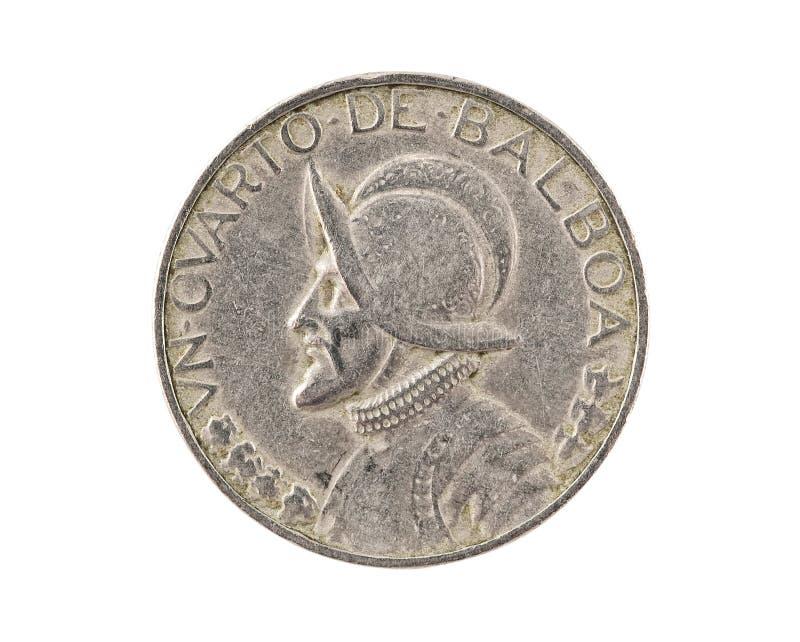Panamanian coin isolated stock photo
