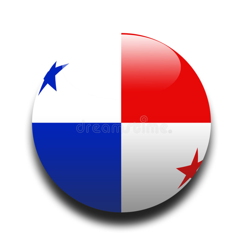 Panamanian flag royalty free illustration