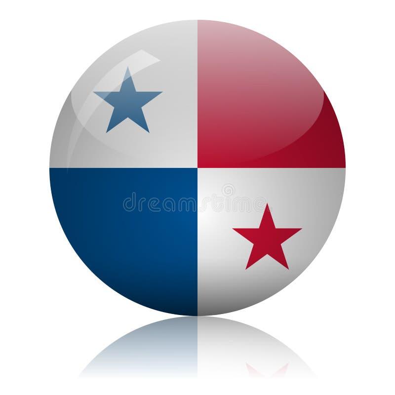 Panamanian flag glass icon vector illustration vector illustration