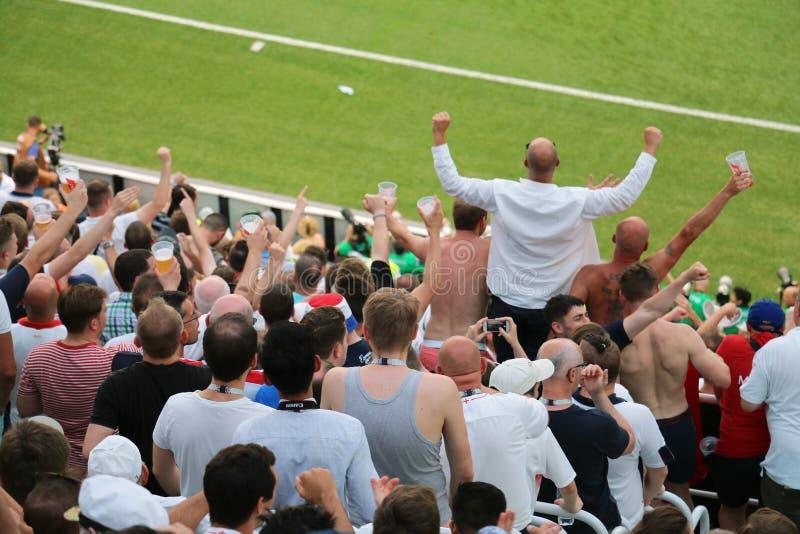 Panamscy Anglia puchar świata fan - 2018 obraz royalty free