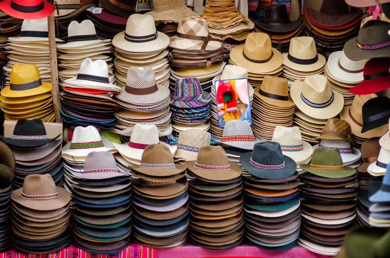 Panamscy kapelusze zdjęcie royalty free