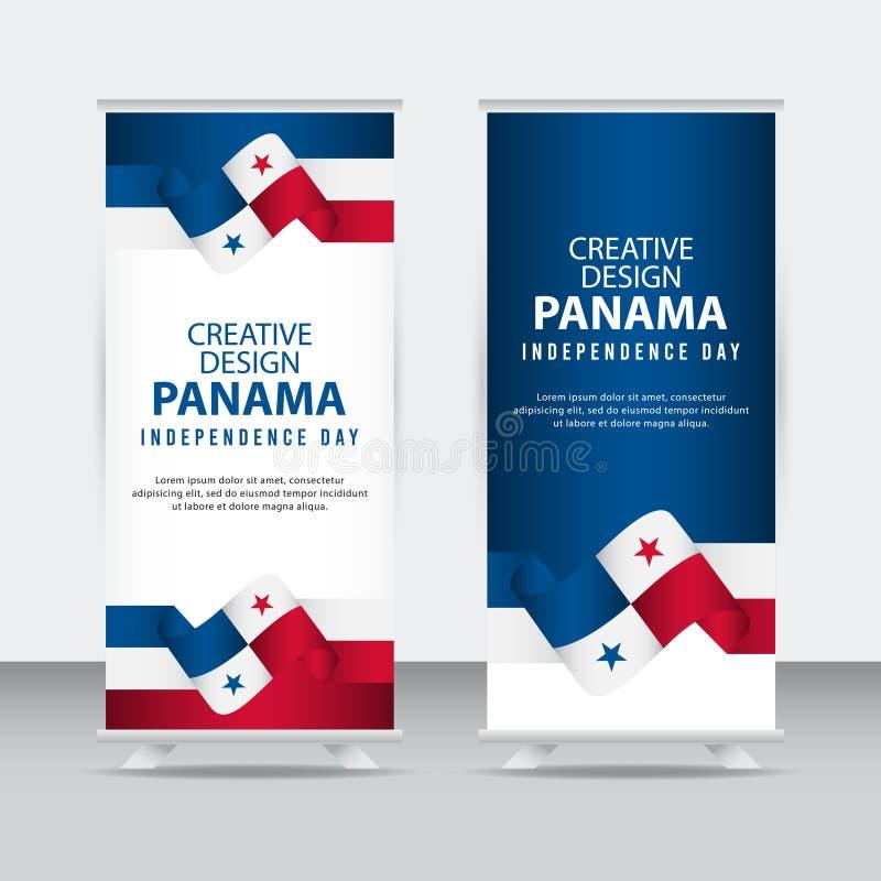 Panamskiego Niezależnego dnia Plakatowego Kreatywnie projekta Ilustracyjny Wektorowy szablon ilustracji