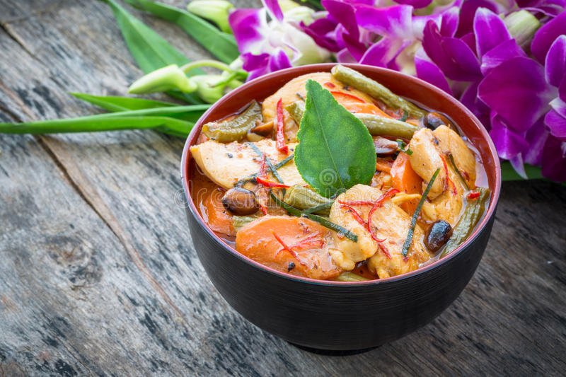 Panang chicken curry. Is a famous thailand food stock photos