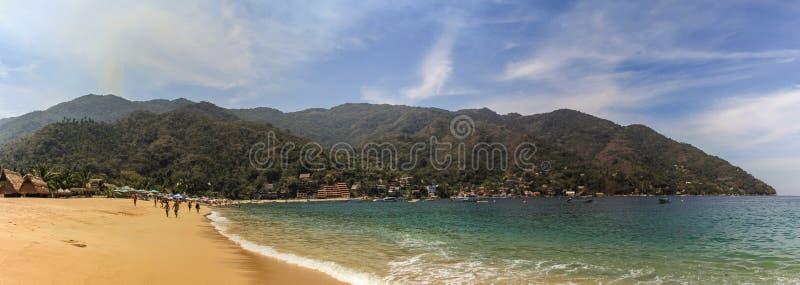 Pananorama of Yelapa Beach near Puerto Vallarta, Jalisco, Mexico stock image