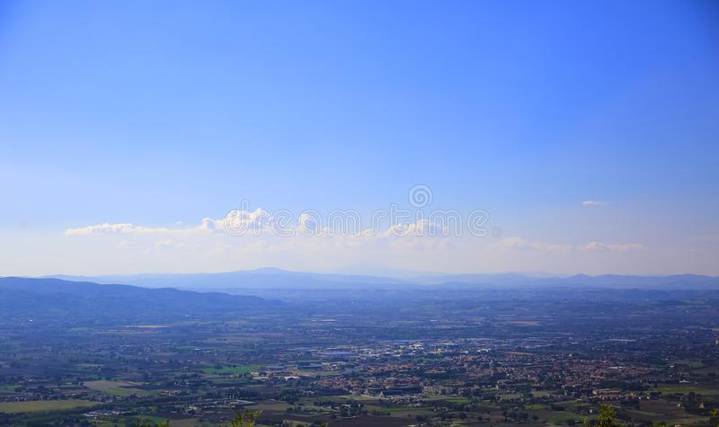 Panarama του degli Angeli στην περιοχή Assisi, Ιταλία της Σάντα Μαρία στοκ φωτογραφίες