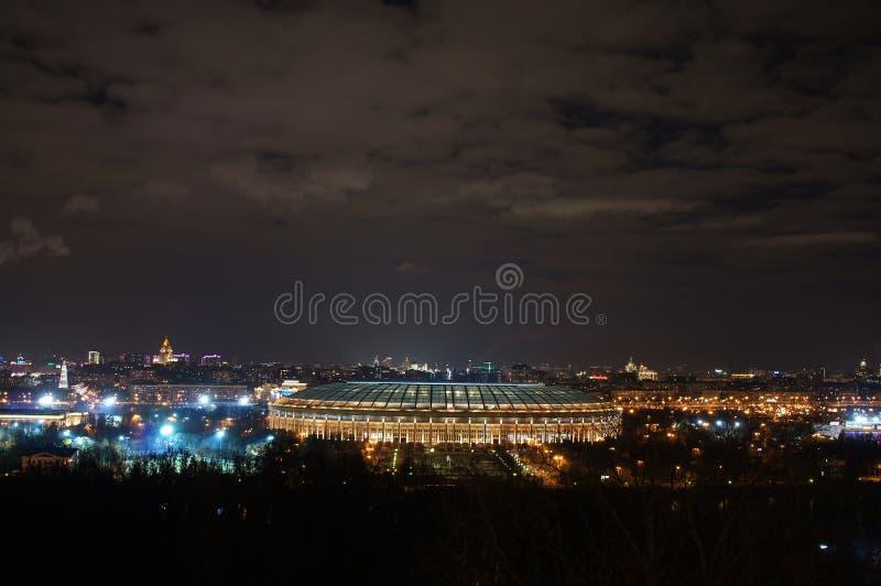Panarama ночи Москва стоковое изображение