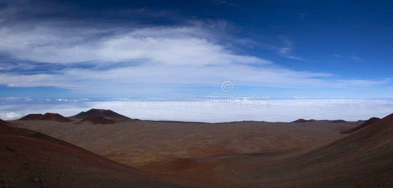 Panarama de la cumbre de Mauna Kea imagen de archivo