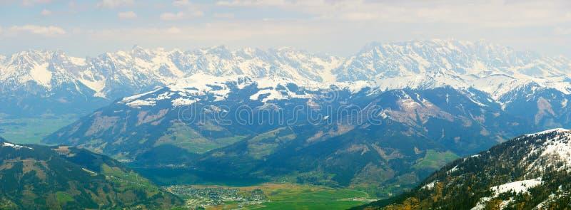 Panaramic-Ansicht von Kitzsteinhorn-Gletscher lizenzfreies stockbild