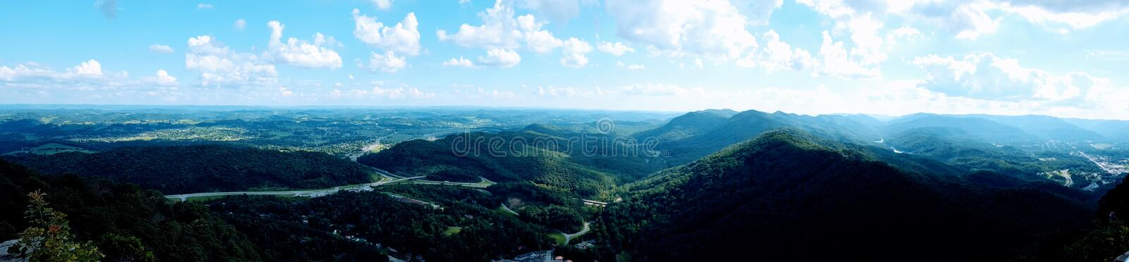 Panaroma of mountains and valleys taken in southeast kentucky royalty free stock images