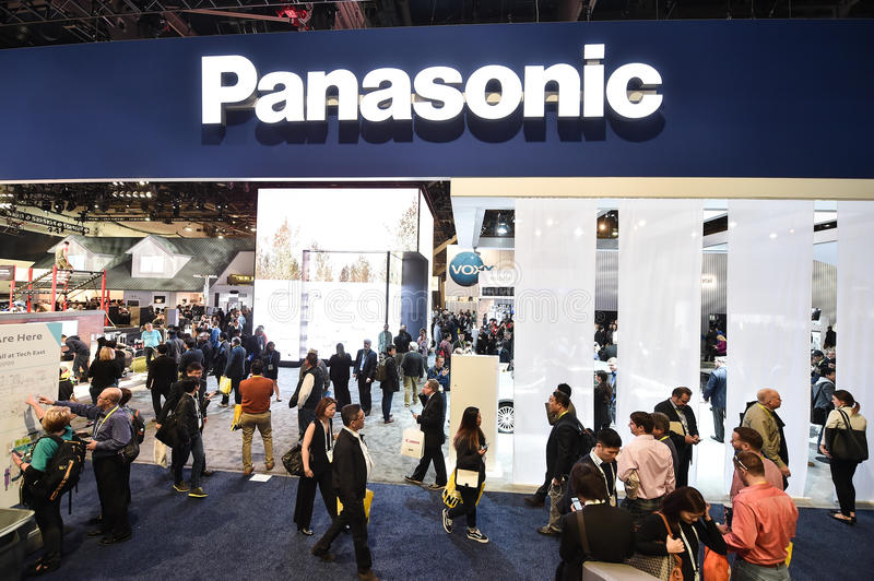 Panasonic entrance at CES 2016 royalty free stock images