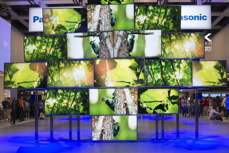 Panasonic 4 K ultra HD TV fotografía de archivo