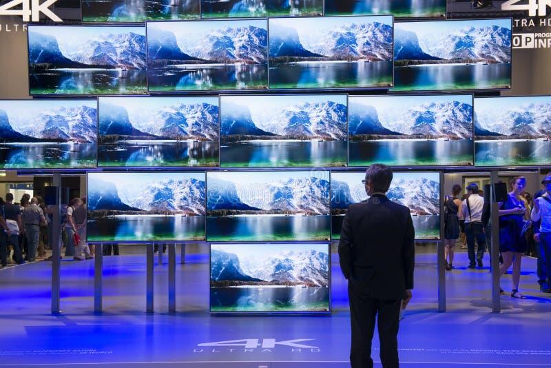Panasonic 4 K ultra HD TV imagen de archivo libre de regalías