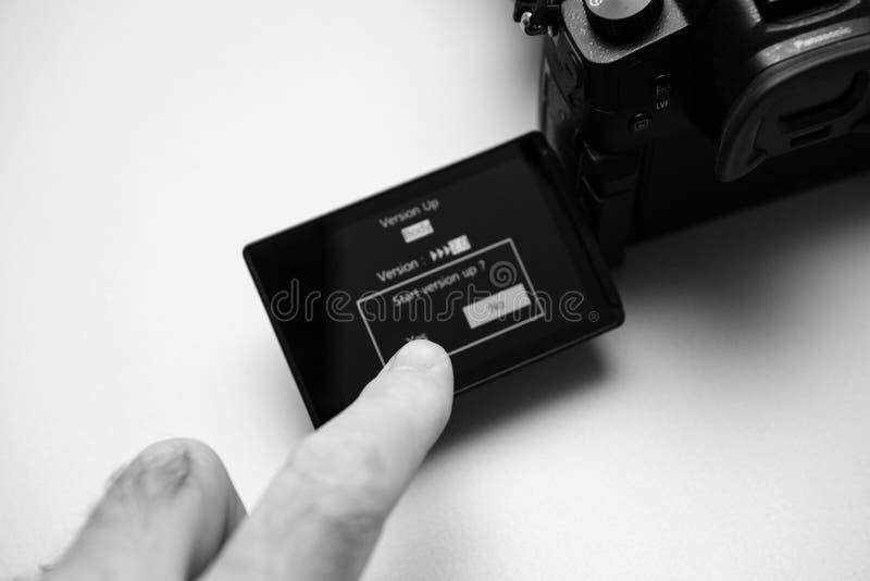 Panasonic Lumix GH5 upgrade firmware royalty free stock photo