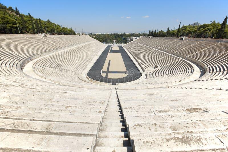 Panathenaic stadion i Aten Grekland royaltyfria bilder