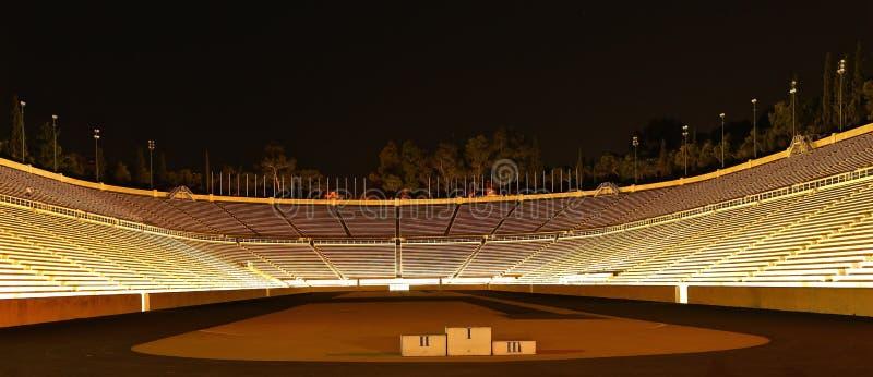 Panathenaic Stadium at night royalty free stock image