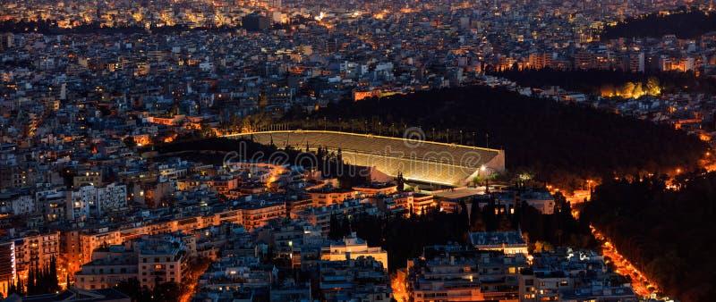 Panathinaiko体育场在雅典,希腊 免版税库存照片