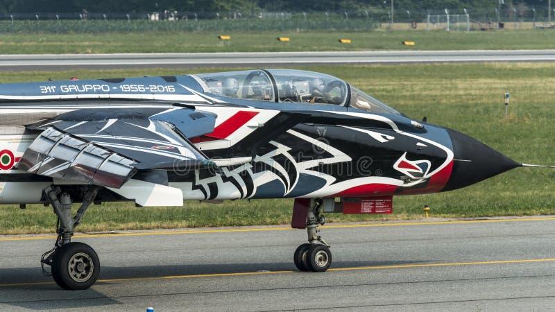 Panavia龙卷风PA-2000意大利语空军队 库存照片