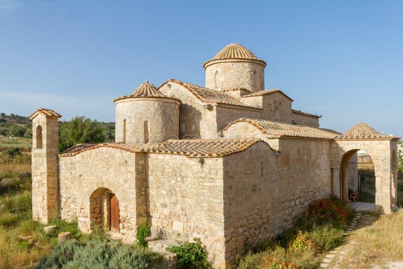 Panayia Kanakaria monasteru kościół, Cypr przekątny widok fotografia royalty free