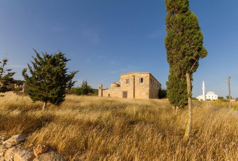 Panayia Kanakaria monasteru kościół i meczet, Cypr meczet wewnątrz obrazy stock