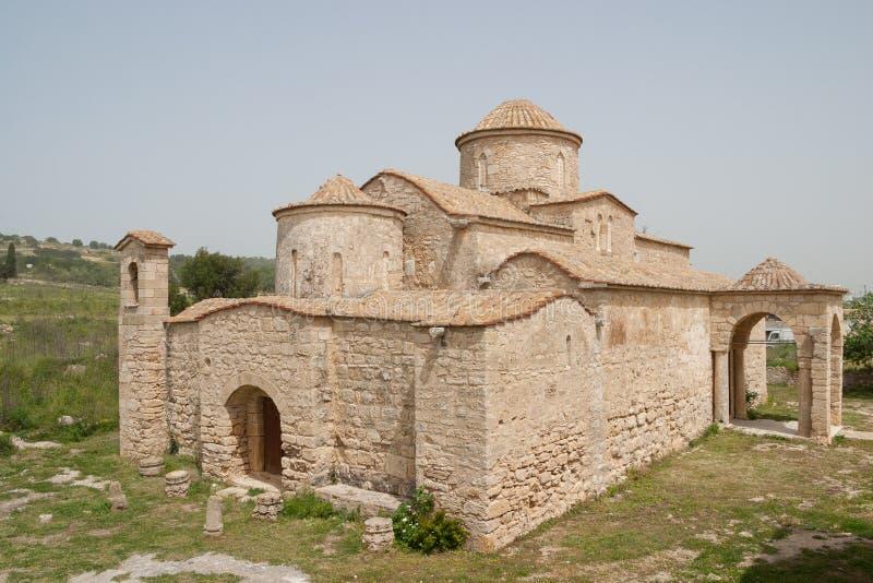 Panayia Kanakaria 6th wieka Bizantyjski kościół, Lytrhrangoimi, Cypr zdjęcia stock