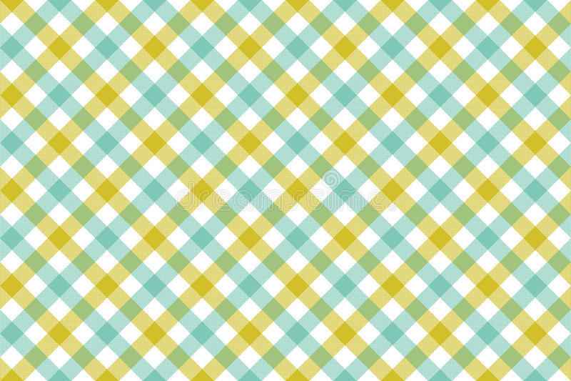 Pancadinha sem emenda do fundo diagonal azul verde da textura da tela da verificação ilustração stock