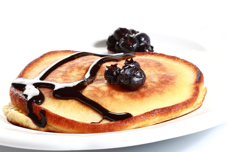 Pancake. With butter and blueberry stock photo