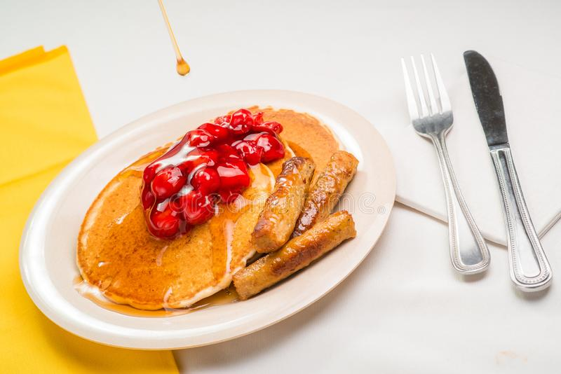 Pancake breakfast stock images