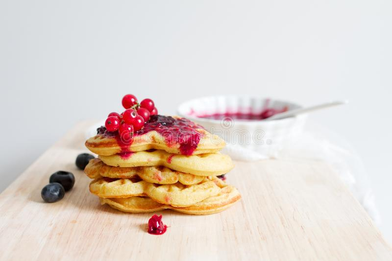 Pancake With Cherries Toppings Free Public Domain Cc0 Image