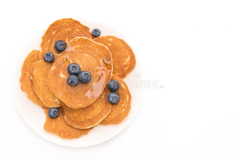 Pancake con il mirtillo fotografia stock